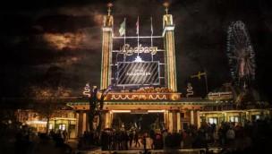 Liseberg Halloween Eingang bei Nacht