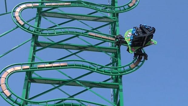 Parc Spirou Rollerball Testfahrten