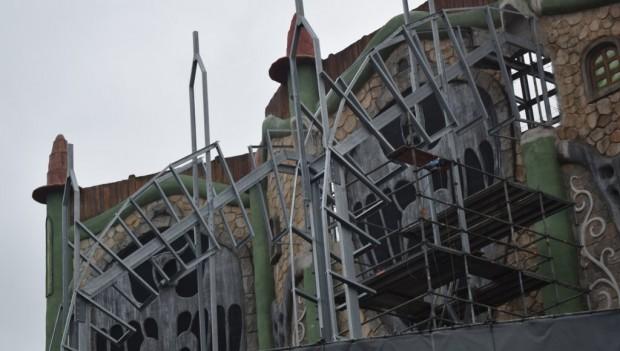 Phantasialand Rookburgh Baustelle Beginn Wintertraum