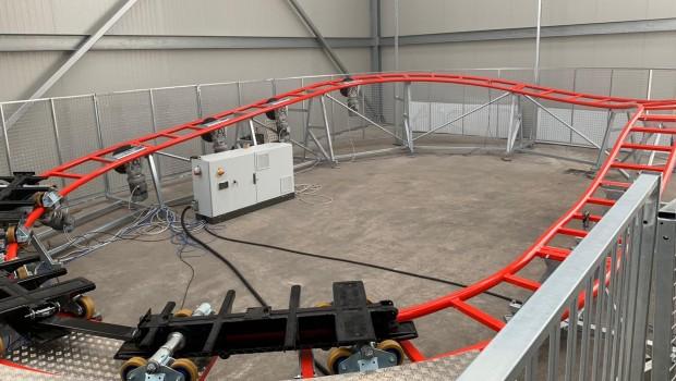 Rasti-Land neue Achterbahn Testaufbau