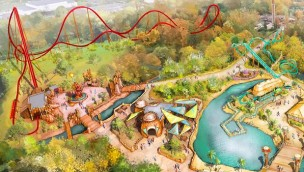 Walibi Belgium Mega Coaster Artwork 2021