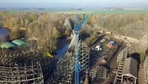 Neue Hybrid-Achterbahn von Walibi Holland wird 14 Prozent höher als bisherige Holzachterbahn