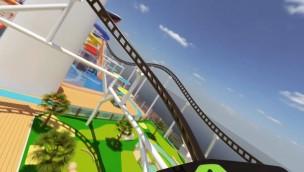 Achterbahn auf Schiff - Konzept Mardi Gras Carnival Cruise