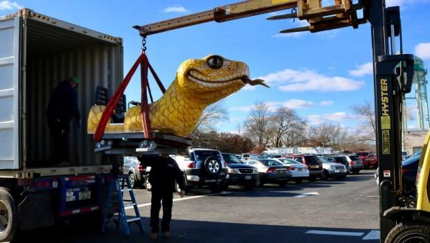 Adventureland Long Island Rattle Snake Achterbahn neuer Zug 2019