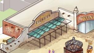 Bellewaerde baut neuen Nebeneingang mit detaillierter Gestaltung vor Mexiko-Bereich für 2019