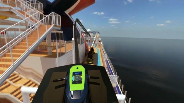 Cruise Line Roller Coaster Bolt Mardi Gras Konzept