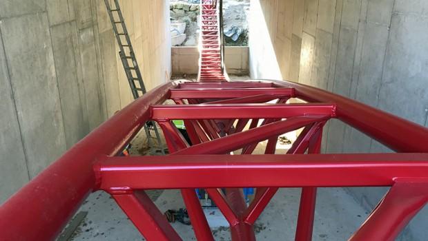 Dynamite Freizeitpark Plohn Tunnel Baustelle