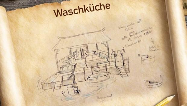 Freizeit-Land Geiselwind Drachenbucht Drachencamp Waschküche