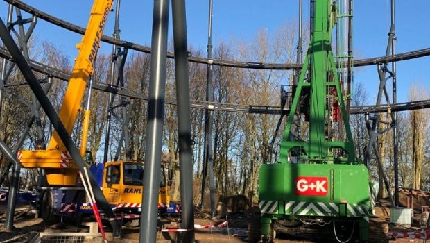 Hansa-Park Highlander Baustelle Baubeginn