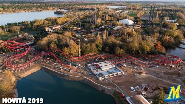 Mirabilandia Ducati Duelling Coaster Luftaufnahme
