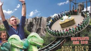 Parc Saint Paul kündigt Disk'o Coaster mit Dinosaurier-Gestaltung als Neuheit für 2019 an