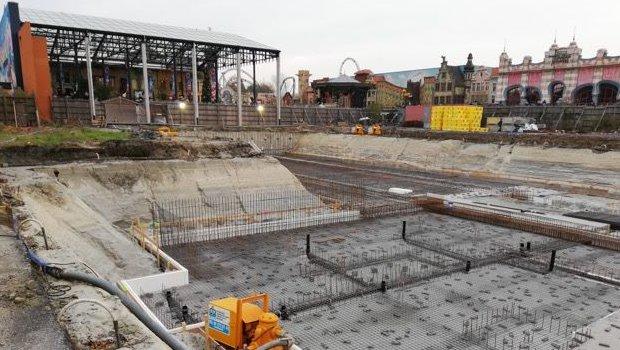 Plopsaland De Panne Hotel Baubeginn