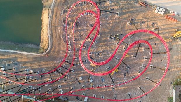 Superbike Race Duacti World Mirabilandia Schienenschluss