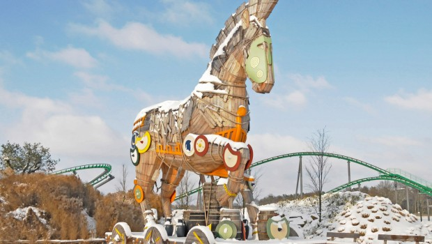 Toverland Winter Trojanisches Pferd