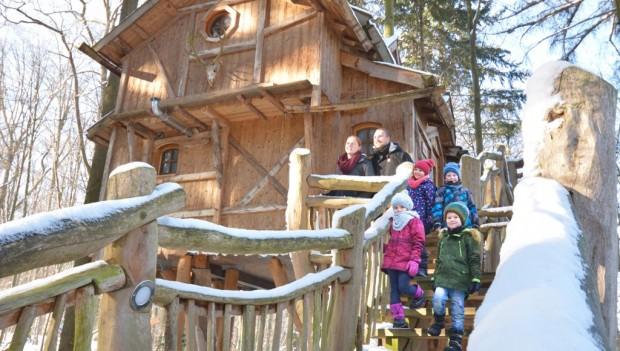 Natur Resort Tripsdrill Baumhaus Winter