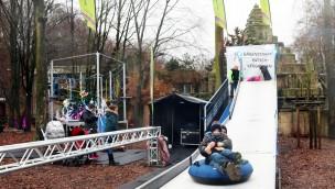 Zoo Osnabrück Winterzauber Rutschbahn