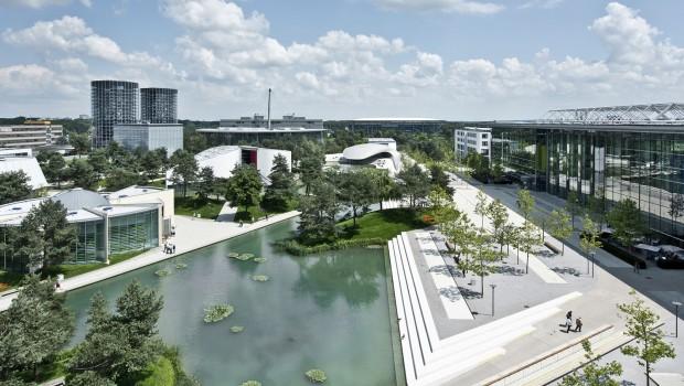 Autostadt Wolfsburg Luftaufnahme