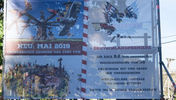 FORT FUN Abenteuerland Thunderbirds neu 2019 Baustelle
