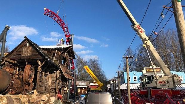 Freizeitpark Plohn Dynamite Baustelle Januar 2019