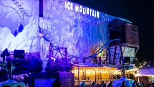 "Fantasy Island in England 2019 mit Indoor-Dreh-Achterbahn ""Ice Mountain"""