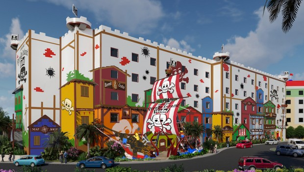 LEGOLAND Florida Pirateninsel Hotel Rendering