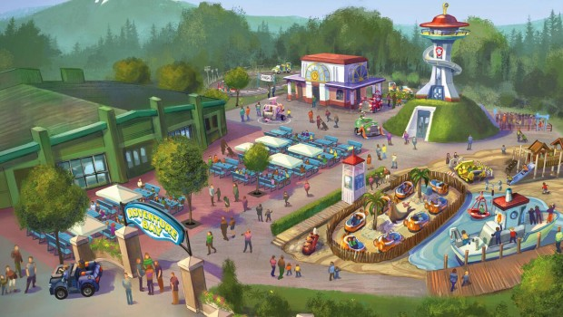 Movie Park Germany 2019 neu Paw Patrol Bereich Artwork