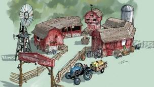 Parc Bagatelle eröffnet 2019 neuen Farm-Themenbereich mit Fahr-Attraktion für Kinder