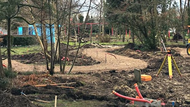 Parc Bagatelle neuer Themenbereich 2019 Baustelle