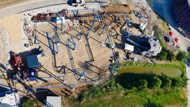 Parc du Petit Prince neue Achterbahn 2019 Baustelle Luftaufnahme