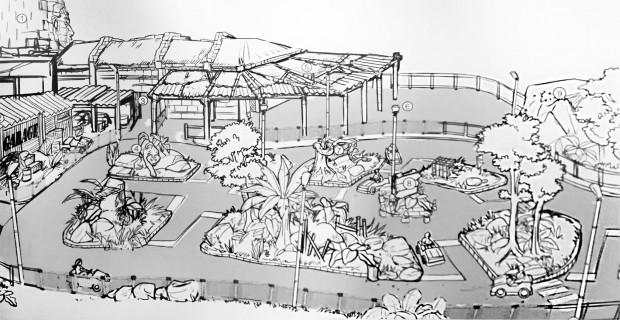 Rainbow Magicland 2019 Kinderfahrschule Konzeptzeichnung