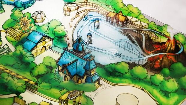 Rainbow MagicLand 2019 Wildwasserbahn Artwork