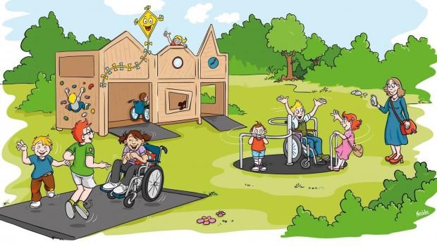 Ravensburger Spieleland 2019 Drachenkinder-Spielplatz Behinderte Zeichnung