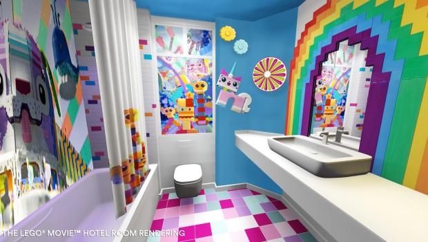 The LEGO Movie Hotel FLorida LEGOLAND Bad - Rendering