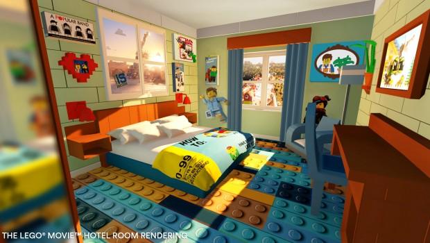 The LEGO Movie Hotel FLorida LEGOLAND Eltern - Rendering