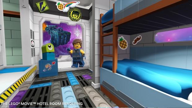 The LEGO Movie Hotel FLorida LEGOLAND Schlafzimmer - Rendering