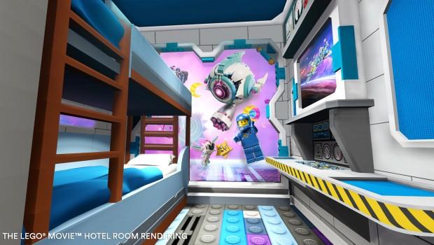 The LEGO Movie Hotel FLorida LEGOLAND Kinderzimmer - Rendering