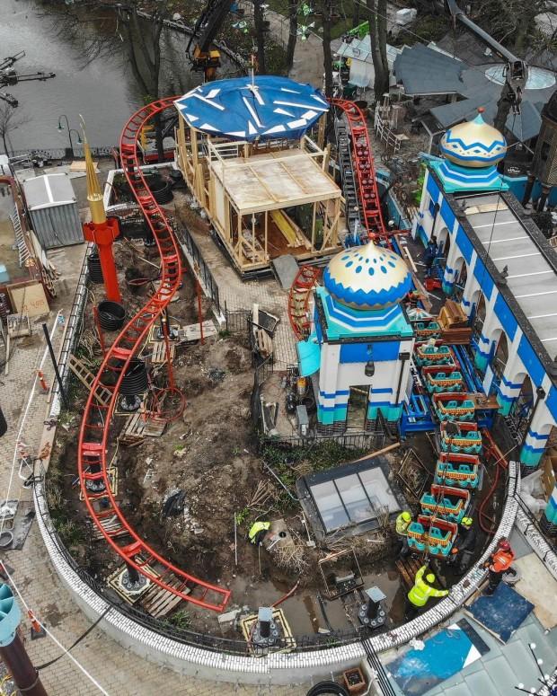 Tivoli Kopenhagen Kamelen Baustelle