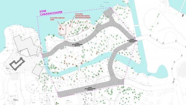 Bellewaerde Pläne für neue Achterbahn (Canadacoaster)