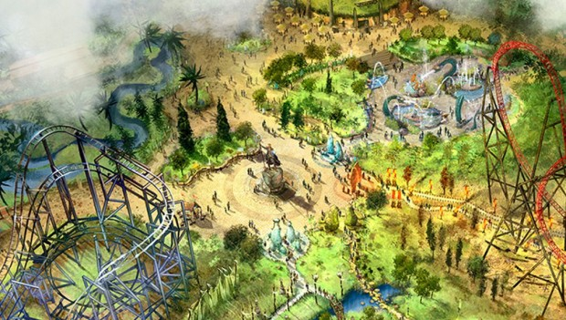 Bobbejaanland Land of Legends Artwork (Zentrum)