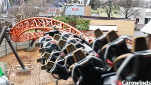 """Carowinds beginnt Testphase von """"Copperhead Strike"""": Neue Achterbahn 2019 fährt erstmals"""