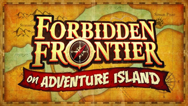 Cedar Point Forbidden Frontier on Adventure Island Logo