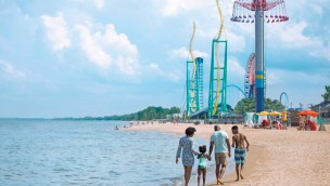 Cedar Point Attraktionen am Strand