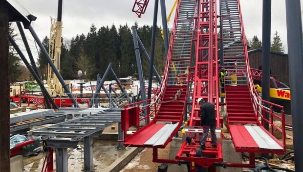 Freizeitpark Plohn Dynamite Baustelle Februar 2019 (Schienenschluss)