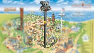 120 Meter Höhe – Hansa-Park setzt neuen Rekord-Freifallturm als seine höchste Attraktion in Szene