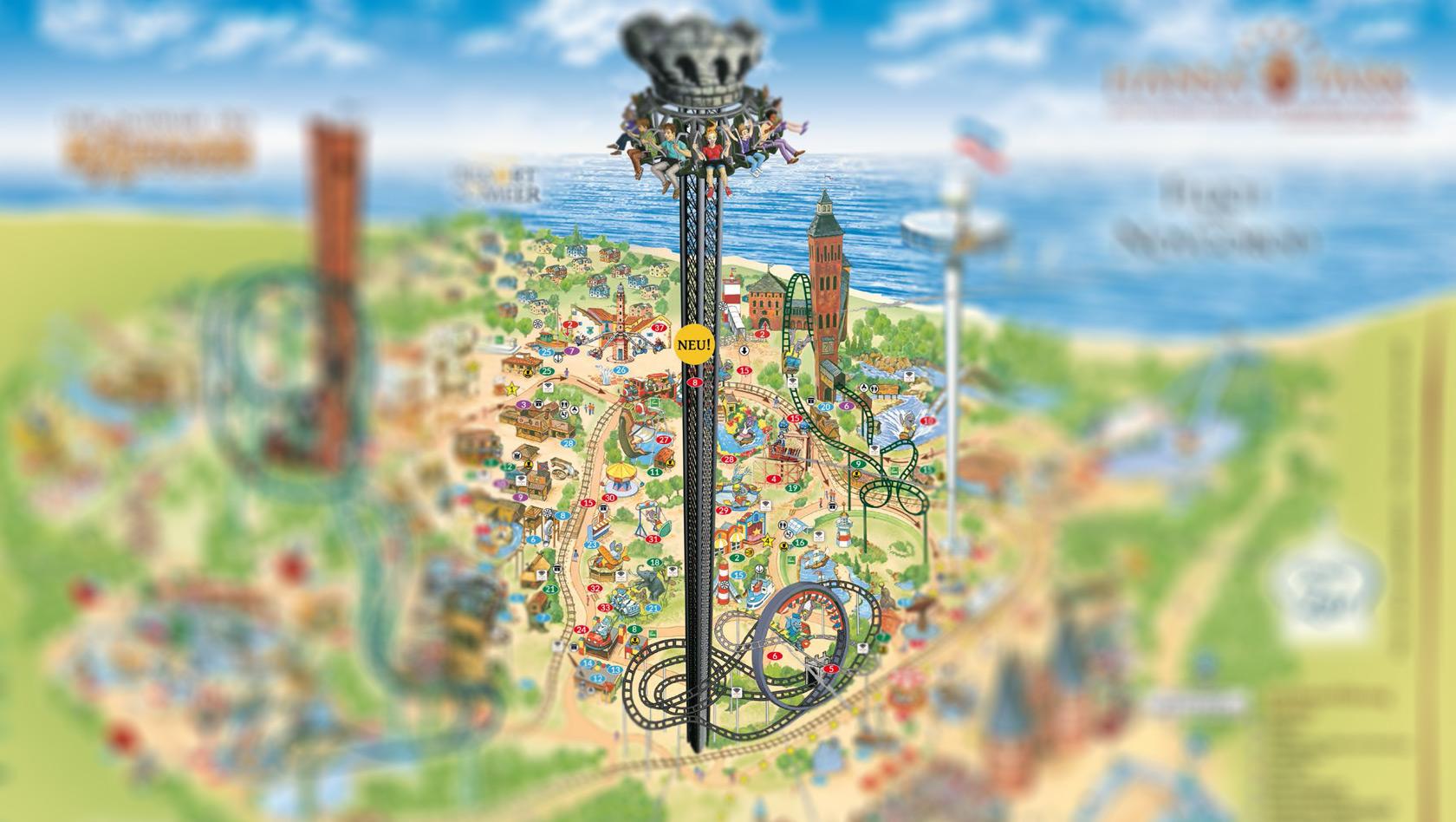 120 Meter Höhe - neuer Hansa-Park Freifallturm bricht Rekorde