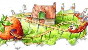 Karls Erlebnis-Dorf Rövershagen Erdbeer-Raupenbahn neu 2019 Artwork
