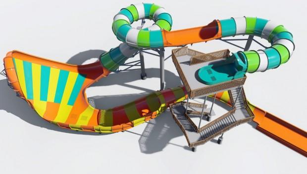 Six Flags Hurricane Harbor Splashtown neue Rutsche 2019