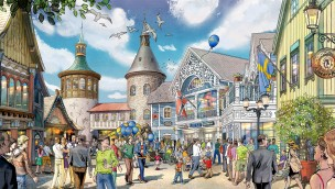 Skandinavien EUropa-Park Dorfplatz Artwork