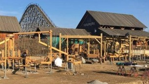 Erlebnispark Tripsdrill beginnt Bauarbeiten für neuen Erlebnis-Spielplatz mit Sägewerk-Optik