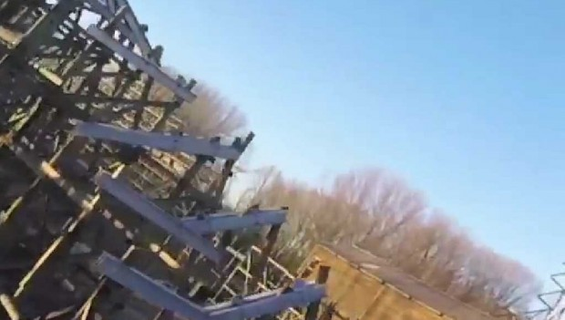 Walibi Holland Baustelle Untamed Drohnenflug